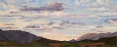 Col de Cornillon, olieverf, 19 x 46 cm, 10/2006, huile, Col de Cornillon