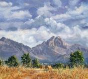 De Grand Ferrand, olieverf, 29 x 32 cm, 8/2012, huile, Le Grand Ferrand