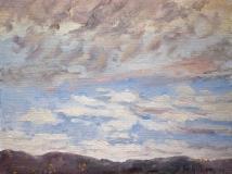 Fiesole, olieverf, 19 x 25 cm, 10/2004, huile, Fiesole