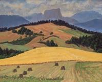 Garcinière, olieverf, 20 x 25 cm, 8/2002, huile, Garcinière
