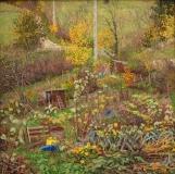 Les Planches, olieverf, 35 x 35 cm, 11/2008, huile, Jardins au Planches