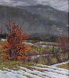 Ser de Villaret, olieverf, 22 x 20 cm, 3/2013, huile, Ser de Villaret
