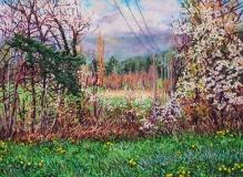 Villarnet, olieverf, 41 x 55 cm, 4/2017, huile, <em>Villarnet</em>