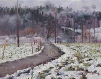 Villard Julien, olieverf, 20 x 25 cm, 12/2017, huile, Villard Julien