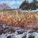 Villard Julien, olieverf, 25 x 25 cm, 12/2017, huile, Villard Julien