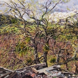 Les Chapelles, olieverf, 35 x 35 cm, 4/2018, huile, Les Chapelles