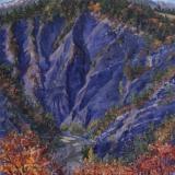 Gorges de l'Ébron, olieverf, 35 x 35 cm, 10/2018, huile, Gorges de l'Ébron