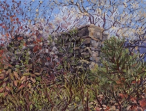 Ruïne, olieverf, 19 x 25 cm, 10/2018, huile, Ruine