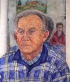 Mijn vader, aquarel, 49 x 43 cm, 2004, aquarelle, Mon père