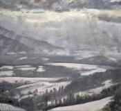 Charvet, olieverf, 20 x 22 cm, 1/2003, huile, Charvet