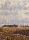 Ser du Thaud, olieverf, 26 x 19 cm, 3/2004, huile, Ser du Thaud