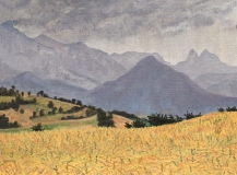 De Menil, olieverf, 19 x 25 cm, 6/2006, huile, Le Menil