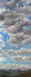 Wolken boven de Vercors, olieverf, 46 x 19 cm, 10/2009, huile, Nuages au dessus du Vercors