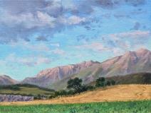 Serre de Milmaze, olieverf, 19 x 25 cm, 8/2013, huile, Serre de Milmaze