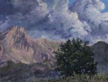 De Grand Ferrand , olieverf, 19 x 25 cm, 8/2018, huile, Le Grand Ferrand