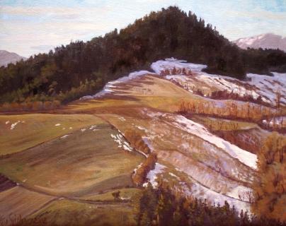 De Fays, olieverf, 24 x 30 cm, 1/2002, huile, Le Fays