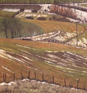 Charvet, olieverf, 22 x 20 cm, 3/2002, huile, Charvet