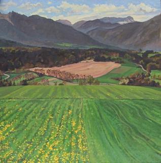 Ser des Bayles, olieverf, 35 x 35 cm, 5/2002, huile, Ser des Bayles