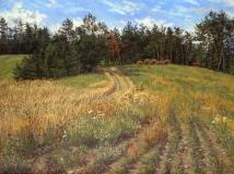 Peys, olieverf, 32 x 42 cm, 8/2004, huile, Peys