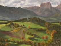 Garcinière, olieverf, 19 x 25 cm, 10/2006, huile, Garcinière