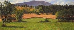 La Grange de Morge, olieverf, 19 x 46 cm, 8/2007, huile, La Grange de Morge