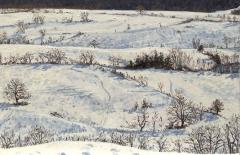 Menglas, olieverf, 19 x 29 cm, 2/2010, huile, Menglas