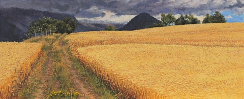 Col Accarias, olieverf, 19 x 46 cm, 7/2010, huile, Col Accarias