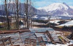 De Jocou, olieverf, 30 x 49 cm, 2/2012, huile, Le Jocou