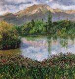 De Jocou, olieverf, 33 x 31 cm, 8/2012, huile, Le Jocou