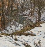 De Lhot, olieverf, 35 x 35 cm, 3/2013, huile, Le Lhot