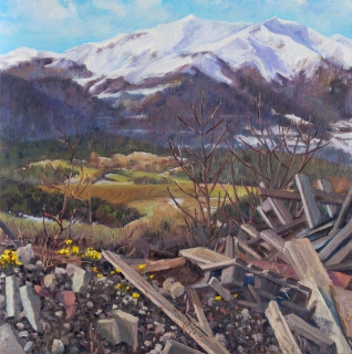De Jocou, olieverf, 30 x 30 cm, 3/2014, huile, Le Jocou