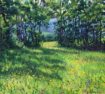 Le Villard, olieverf, 32 x 36 cm, 6/2014, huile, Le Villard