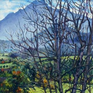 De Grand Ferrand, olieverf, 25 x 25 cm, 11/2014, huile, Le Grand Ferrand