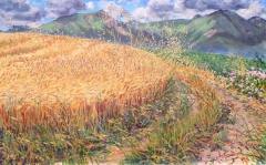 De Jocou et de Barral, olieverf, 31 x 49 cm, 7/2016, huile, Le Jocou et le Barral