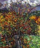 Les Sagnes, olieverf, 25 x 20 cm, 10/2017, huile, Les Sagnes