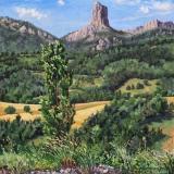 Mt. Aiguille, olieverf, 35 x 35 cm, 7/2018, huile, lMt. Aiguille