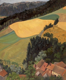 Grand Oriol, olieverf, 40 x 33 cm, 7/1995, huile, Grand Oriol