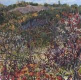 Herfst, olieverf, 35 x 35 cm, 10/2018, huile, Automne