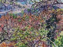 Voorjaar, aquarel, 30 x 40 cm, 4/2019, aquarelle, Le printemps