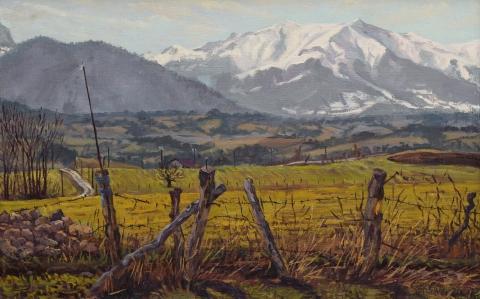 De Jocou, olieverf, 24 x 38 cm, 3/2000, huile, Le Jocou