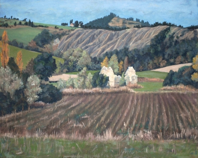 De rotsen van Éméry, olieverf, 33 x 41 cm, 10/1995, huile, Les roches d'Éméry