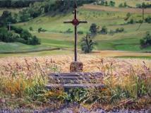 Ribeyre, olieverf, 19 x 25 cm, 7/2015, huile, Ribeyre