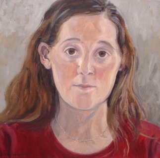 Nelle, olieverf, 35 x 35 cm, 2002, huile, Nelle
