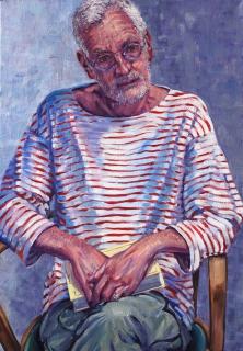 Portret van Ad, olieverf, 85 x 60 cm, 2017, huile, Ad