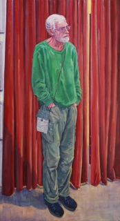Portret van Ad, olieverf, 200 x 110 cm, 2020, huile, Portrait d'Ad