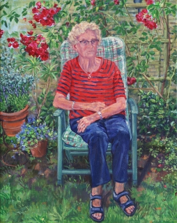 Portret mevr. F., olieverf, 50 x 40 cm, 9/2020, huile, Portrait mme. F.