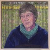 Portret Janny, olieverf, 50 x 50 cm, 2015, huile, Janny