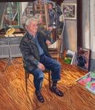 Portret van Hans, olieverf, 80 x 70 cm, 2005, huile, Hans