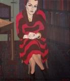 Portret van Ellen, olieverf, 150 x 130 cm, 1985, huile, Ellen