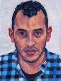 Mehdi, olieverf, 40 x 30 cm, 2016, huile, Mehdi